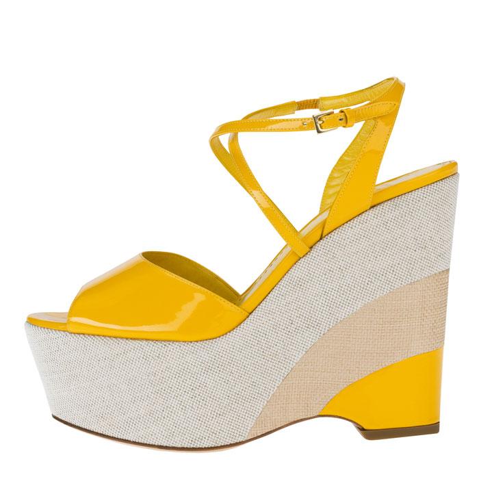 Sandali giallo limone Moschino Cheap and Chic