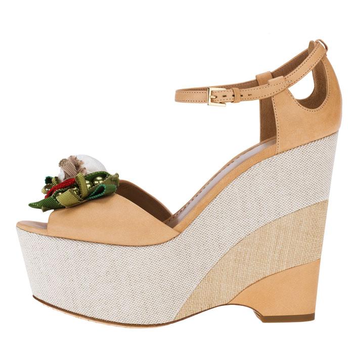 Sandali con applicazioni Moschino Cheap and Chic
