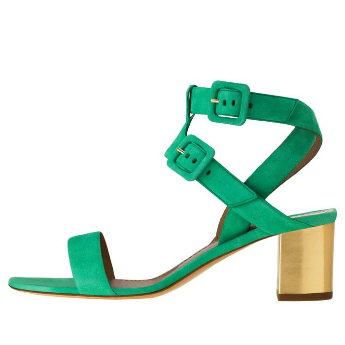 Sandali Moschino Cheap and Chic verdi e oro
