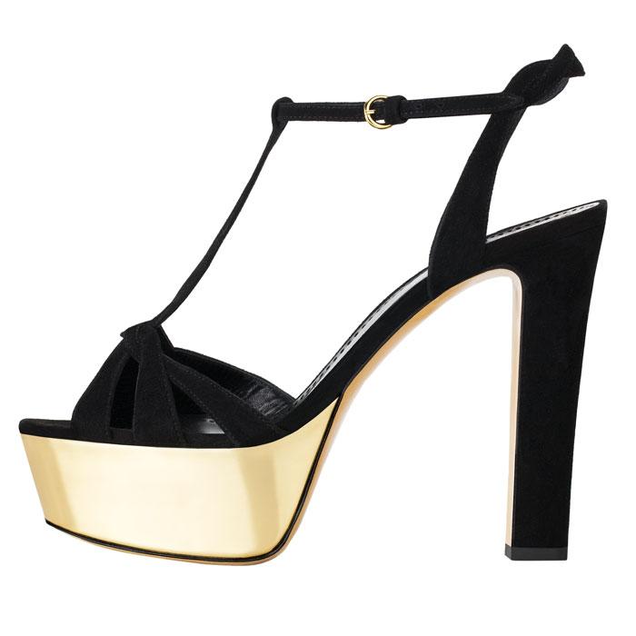 Sandali Moschino Cheap and Chic nero e oro