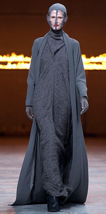 Rick Owens 2012 2013 - abito lungo grigio scuro