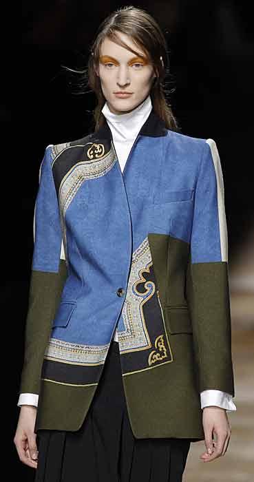 Dries van Noten 2012 2013 - giacca azzurra grigia