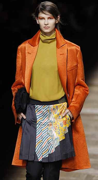 Dries van Noten 2012 2013 - cappotto arancione