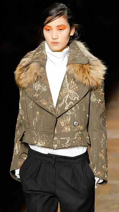 Dries van Noten 2012 2013 - giacca con pelliccia