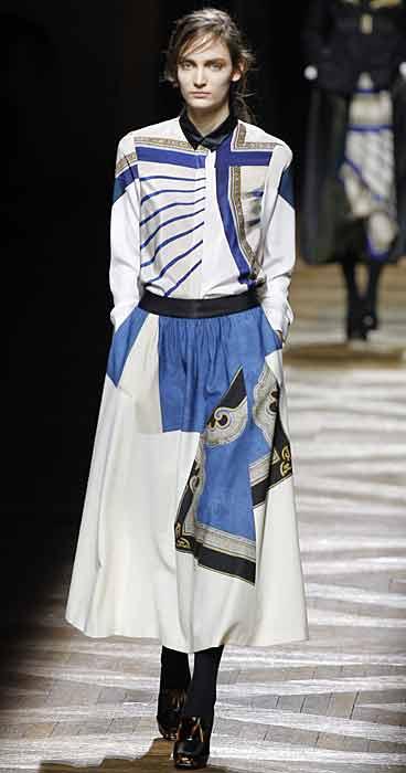 Dries van Noten 2012 2013 - abito bianco con stampe