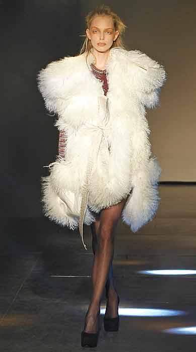 Vivienne Westwood 2012 2013 - pelliccia bianca
