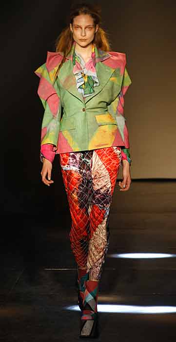 Vivienne Westwood 2012 2013 - giacca verde e rosa