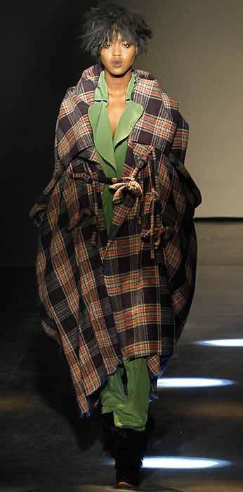 Vivienne Westwood 2012 2013 - mantella a quadri
