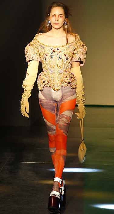 Vivienne Westwood 2012 2013 - zeppa con lacci bianchi