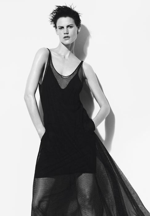 Zara donna - abito nero trasparente