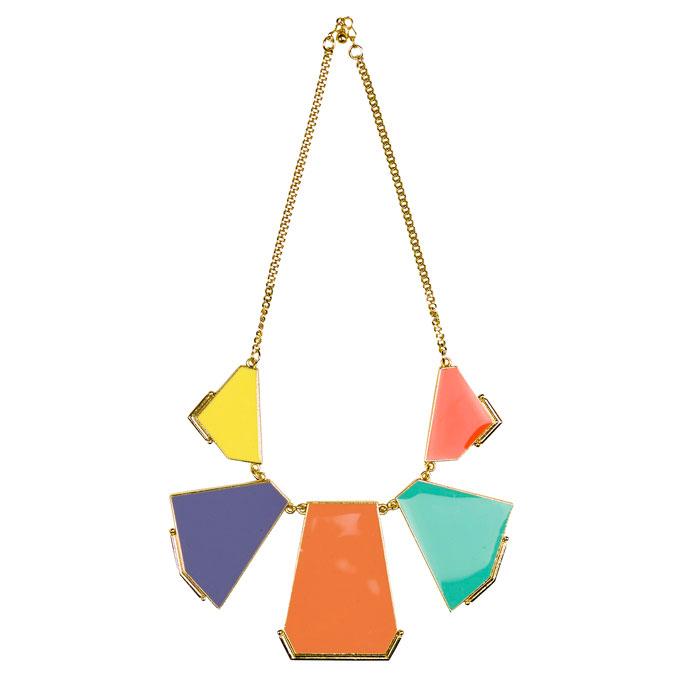 Zara 2012 - collana con pietre colorate