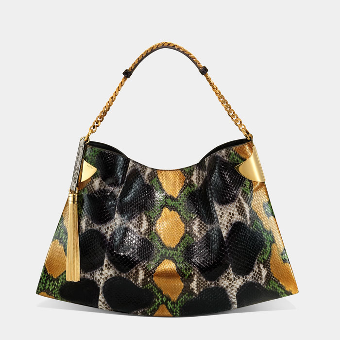 Borsa Gucci pitone naturale e multicolor estate 2012
