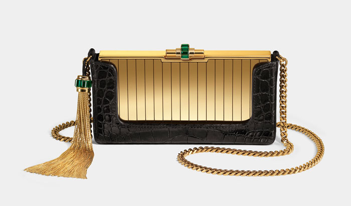 Borsa Gucci nero e oro estate 2012