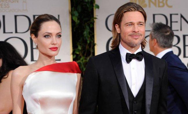 Golden Globes 2012 - Brad Pitt e Angelina Jolie