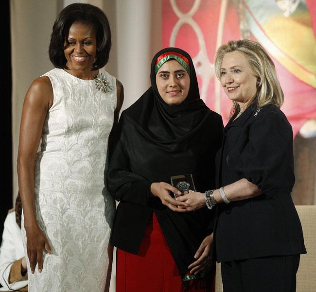 Le donne più potenti: Michelle Obama, Hillary Clinton, Maryam Durani