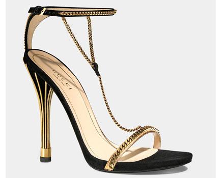 Sandali alti da sera Gucci