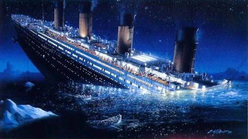 Il Titanic affonda a causa della collisione con un Iceberg
