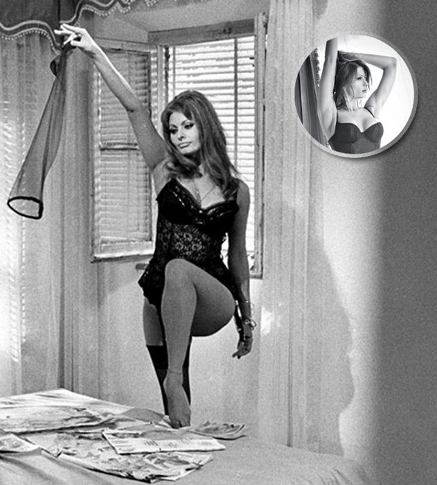 Sophia Loren scena film Ieri, oggi e domani