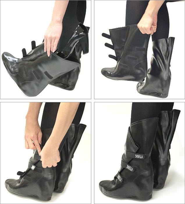 Come indossare i copristivali anti pioggia Shuella
