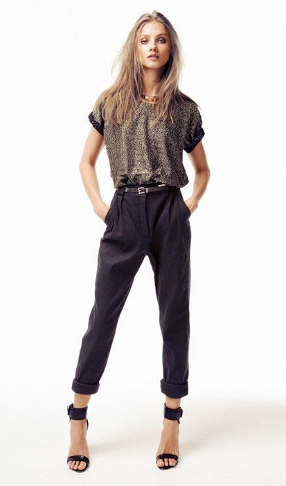 Pantalone nero Mango