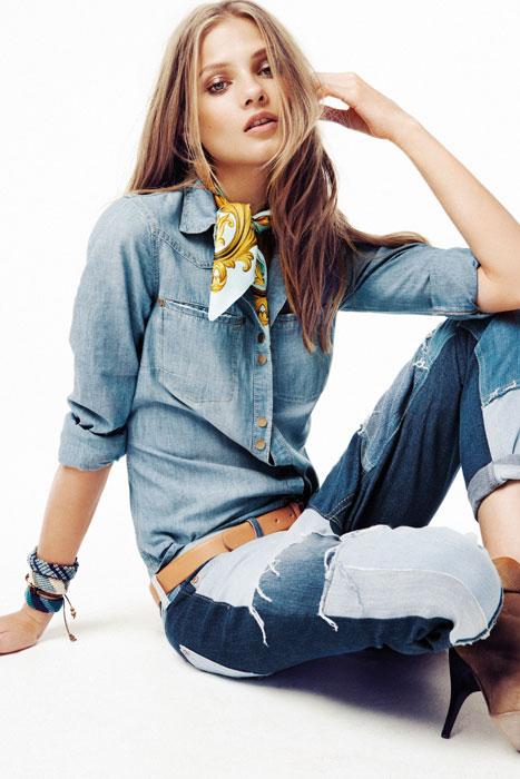 Camicia jeans e jeans lunghi Mango