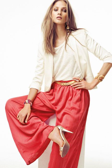 Pantalone rosso e twinset Mango