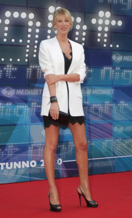 Alessia Marcuzzi - giacca bianca
