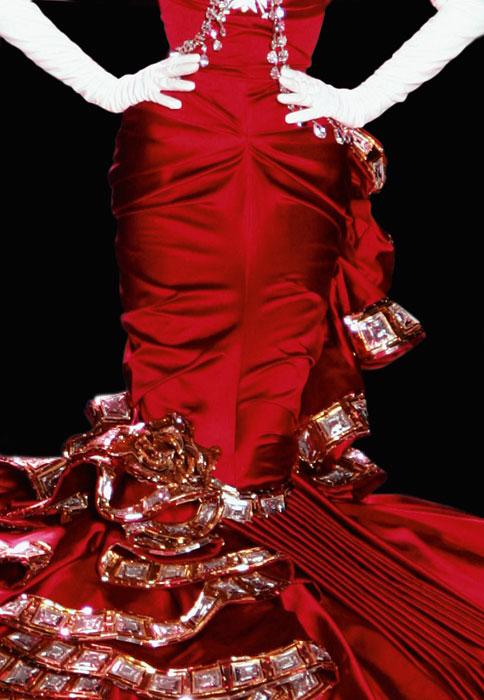 Abito per Rouge Dior 999 Rouge Ara