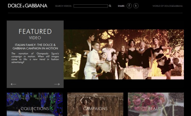 On line il nuovo canale Youtube di Dolce&Gabbana