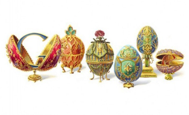 Un doodle per celebrare le uova di Fabergé