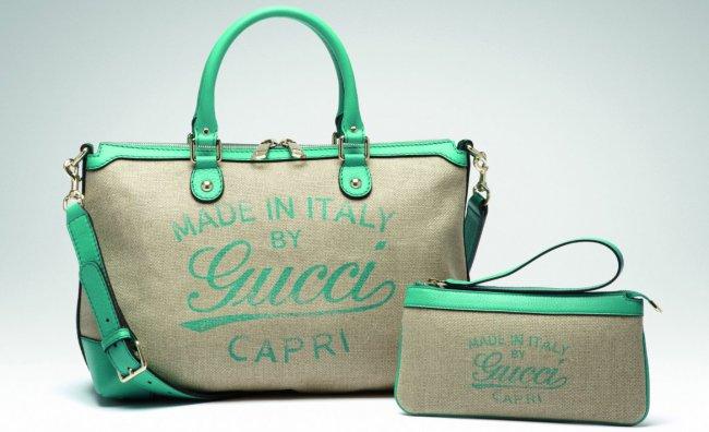 Borse in lino per la Collezione Resort di Gucci