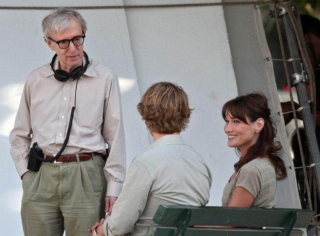 Carla Bruni, Woody Allen e Owen Wilson