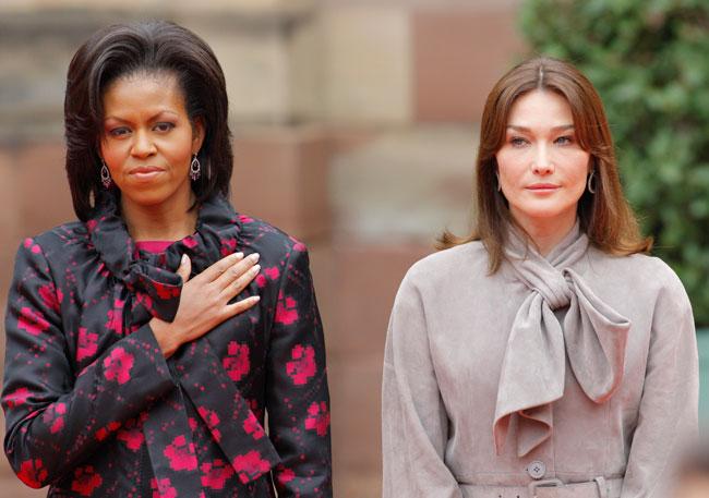 Carla Bruni e Michelle Obama