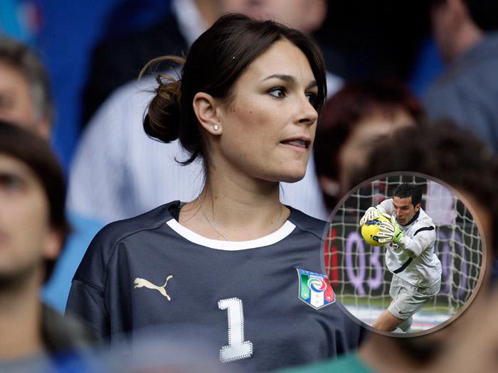 Alena Seredova durante una partita in Svizzera