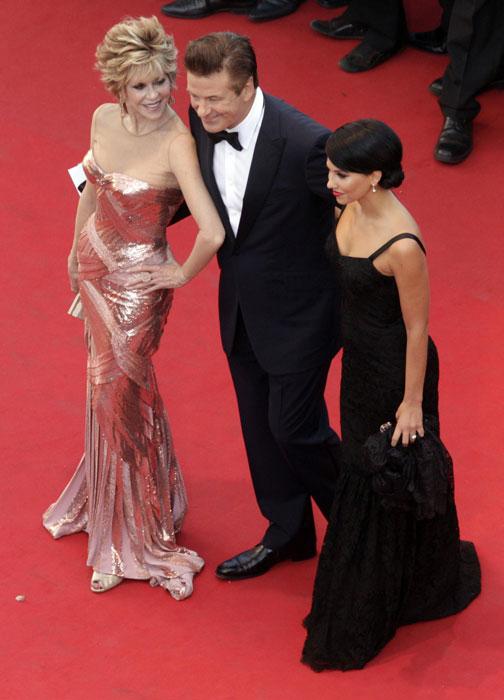 Jane Fonda, Alec Baldwin e Hilary Thomas
