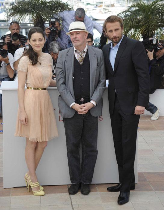 Jacques Audiard, Marion Cotillard e Matthias Schoenaerts