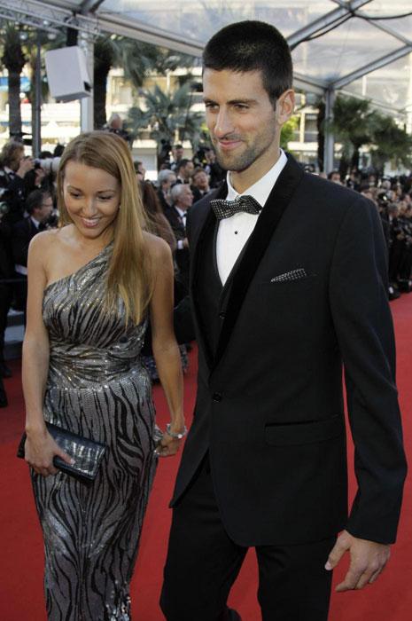 Jelena Ristic e Novak Djokovic