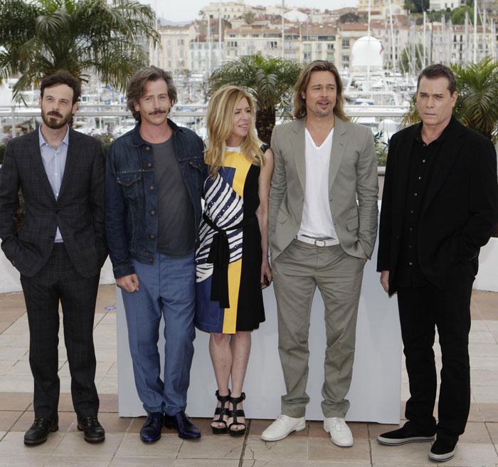 Scoot McNairy, Ben Mendelsohn, Dede Gardner, Brad Pitt e Ray Liotta