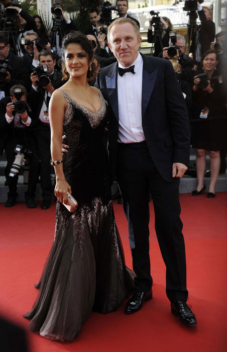 Salma Hayek e François-Henri Pinault in Gucci