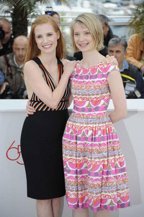 Jessica Chastain e Mia Wasikowska