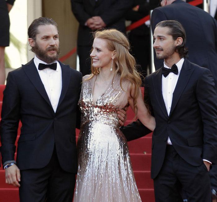 Tom Hardy, Jessica Chastain e Shia LaBeouf