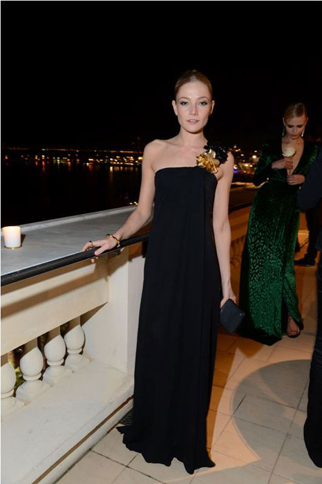 Clara Paget in Gucci