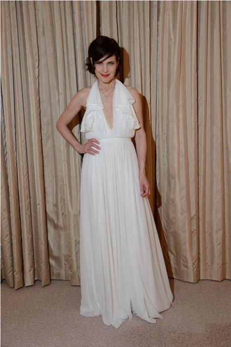Elizabeth McGovern in Gucci