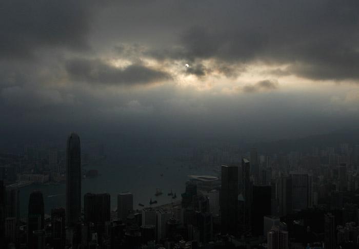 Eclissi anulare di sole visibile da Hong Gong foto