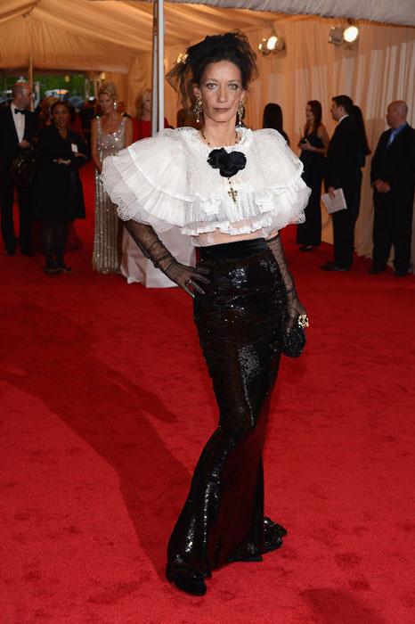 Marpessa Hennink in Dolce&Gabbana al MET Gala 2012