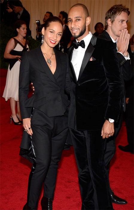 Alicia Keys e Swizz Beatz in Givenchy al MET Gala 2012