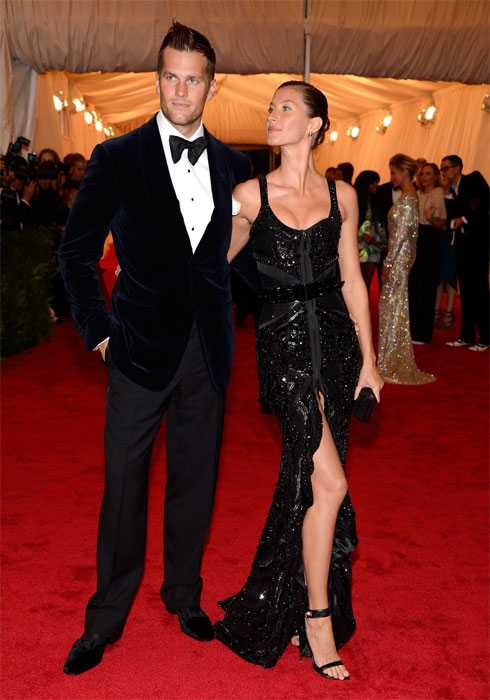 Gisele Bündchen e Tom Brady in Givenchy al MET Gala 2012