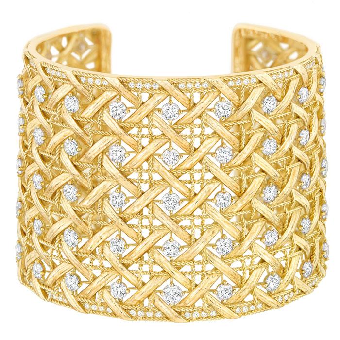 Manchette oro giallo 750/1000 My Dior e diamanti