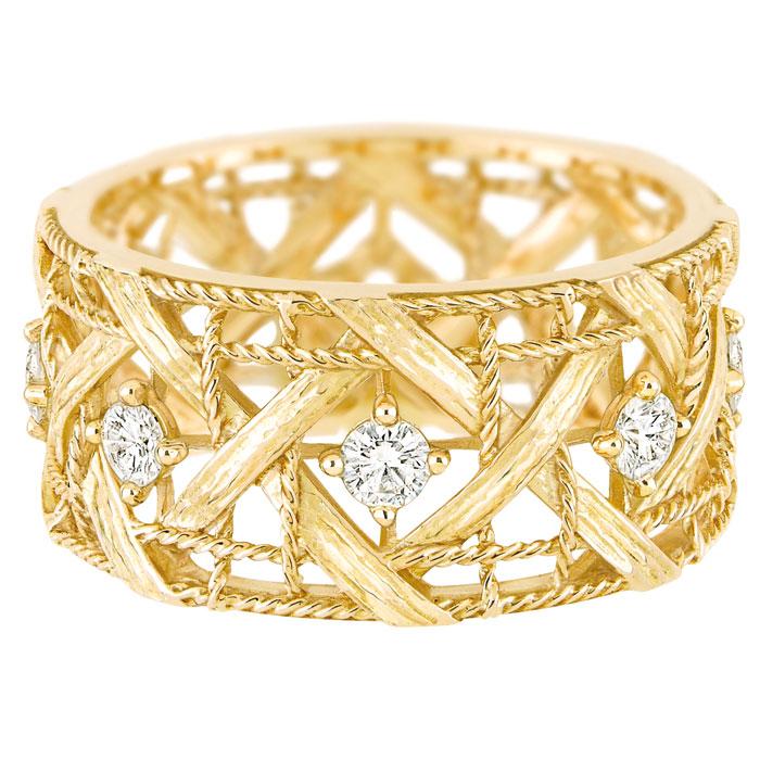 Bracciale in oro giallo My Dior, diamanti