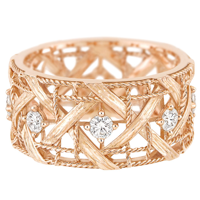 Bracciale in oro rosa My Dior, diamanti